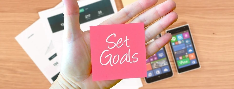 An image showing the blog is about setting goals